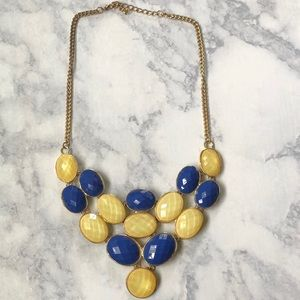 Blue & Cream Statement Necklace